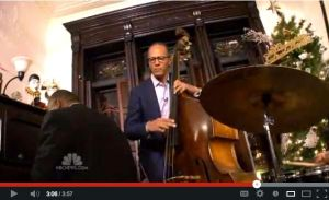 NBC's Lester Holt performing on the stand-up bass at BrownstoneJazz